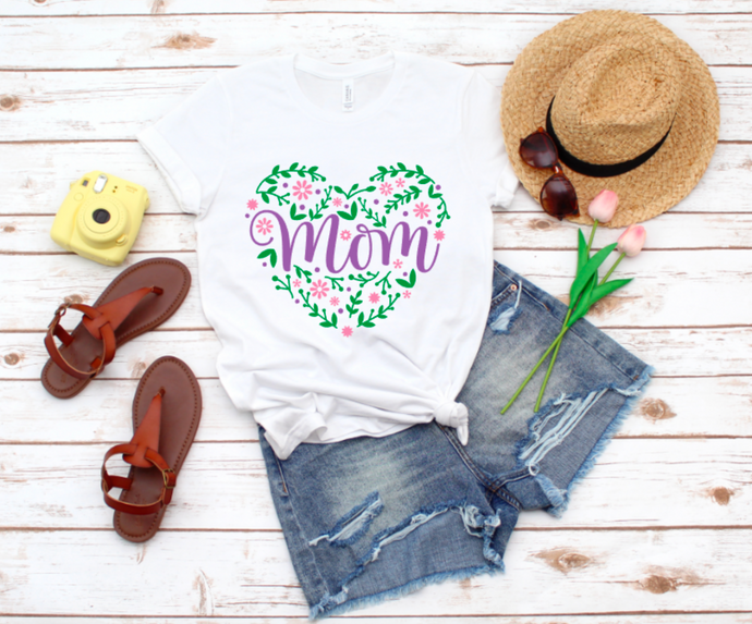 Mom Heart Graphic Tee