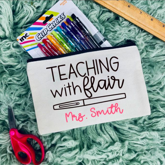 Teaching with Flair Zipper Bag