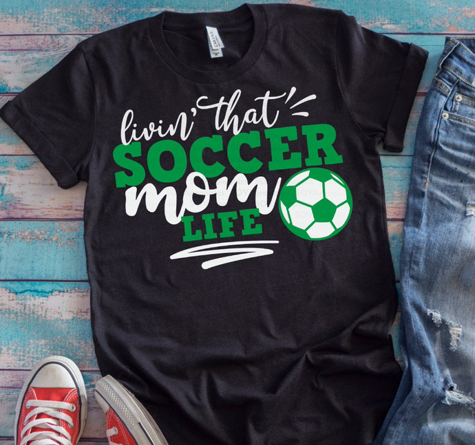 Livin' That Soccer Mom Life Graphic Tee