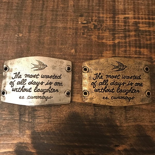 Bracelet - Lenny and Eva - Large Sentiment for Wide Leather Cuff Bracelet - CLEARANCE