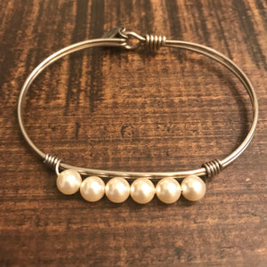 Bracelet - Beads and Stones Collection - Pearl - CLEARANCE