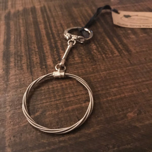 Keychain - Recycled Guitar String - CLEARANCE