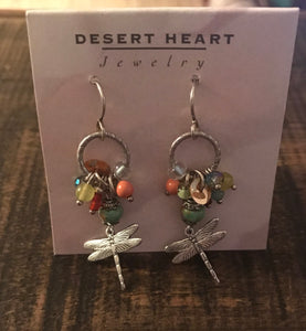 Earrings - Desert Heart Dragonfly - CLEARANCE
