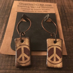 Earrings - Imagine Peace Clay Earrings - CLEARANCE