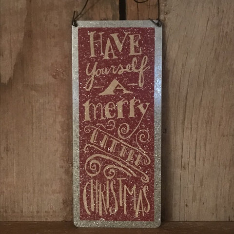 Metal Sign - Merry Little Christmas - CLEARANCE
