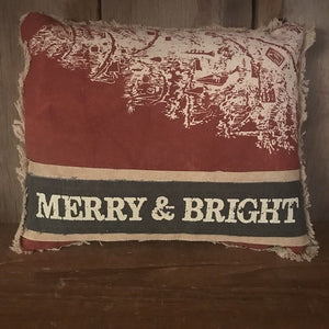 Pillow - Merry and Bright - CLEARANCE