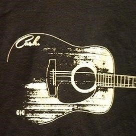 Men's Tee - Johnny Cash Guitar - CLEARANCE