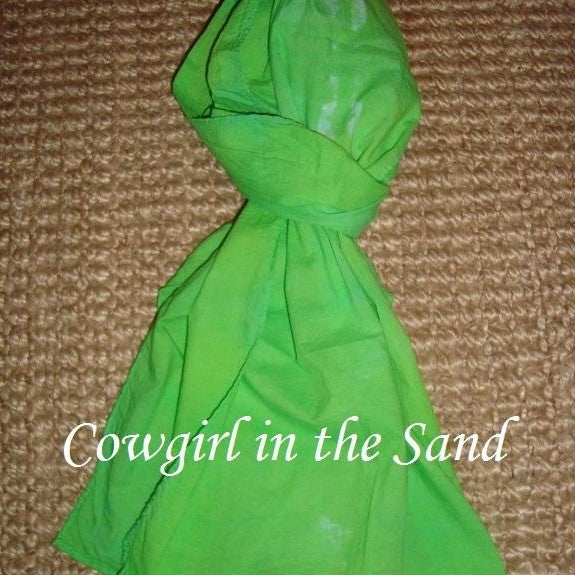 Scarves - Cotton - Hand-dyed - Lime Green - CLEARANCE