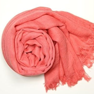 Scarves - Cotton - Pink - CLEARANCE