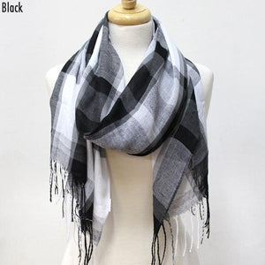 Scarves - Black Plaid - CLEARANCE