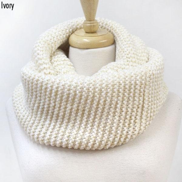 Scarves - Infinity Thick Knit - Ivory - CLEARANCE
