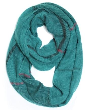 Scarves - Infinity Knit - Teal Plaid - CLEARANCE