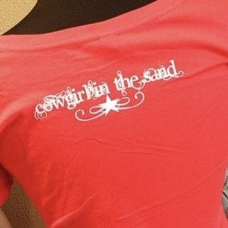 Women's Tee - Cowgirl in the Sand Star - Red - CLEARANCE
