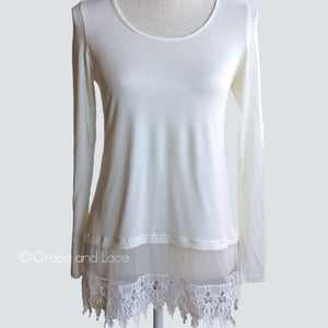 Women's Top - Lace Extender - Ivory - CLEARANCE