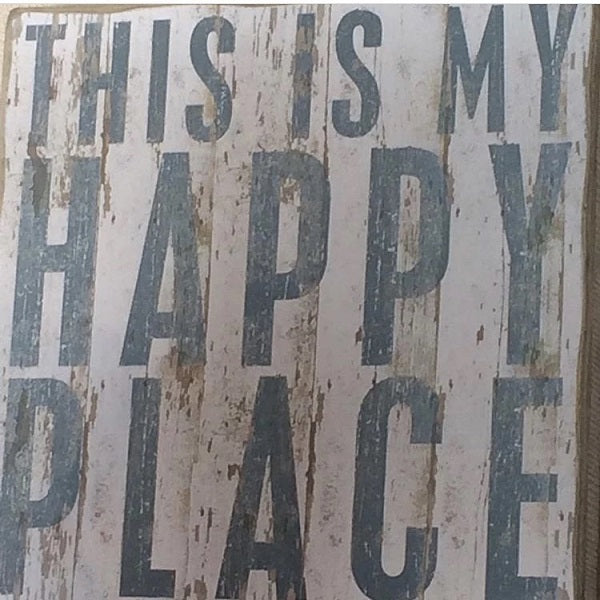 Wooden Sign - This Is My Happy Place - CLEARANCE