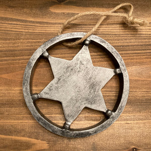 Ornaments - Sheriff's Star - CLEARANCE