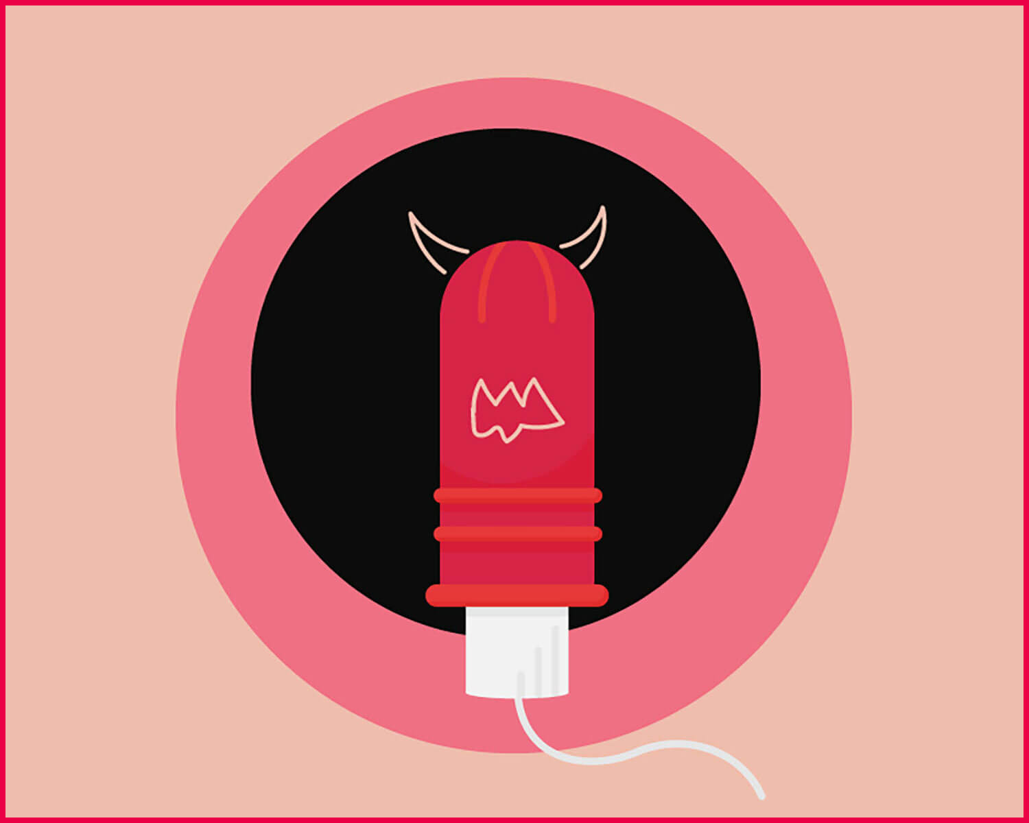 MySanity Myth of tampons representing devil symbol a thought by an individual