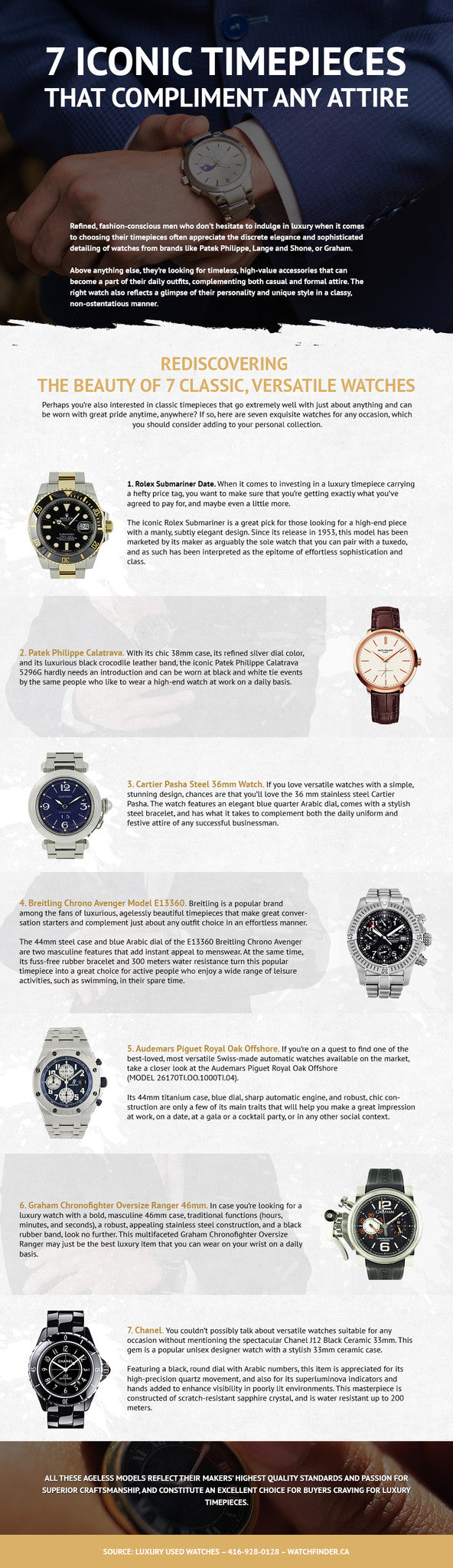 7 Men's Watches for Any Occasion - Infographic