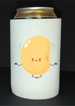Load image into Gallery viewer, Bean Festival Drink Koozie, meditating bean logo