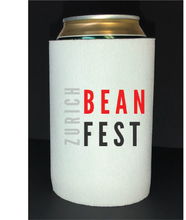 Load image into Gallery viewer, Bean Festival Drink Koozie, red and black logo
