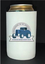 Load image into Gallery viewer, Bean Festival Drink Koozie , blue car logo