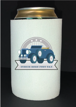 Load image into Gallery viewer, Bean Festival Drink Koozie, navy car logo