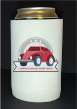 Load image into Gallery viewer, Bean Festival Drink Koozie, cherry red car logo