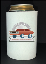 Load image into Gallery viewer, Bean Festival Drink Koozie, rusted red logo