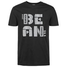 Load image into Gallery viewer, Gildan Soft Style black t-shirt  Bean Festival designs, grey logo
