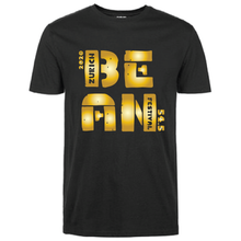 Load image into Gallery viewer, Gildan Soft Style black t-shirt Bean Festival designs, gold logo