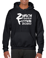 Load image into Gallery viewer, Gildan Sweater with Zurich Bean Festival graphic in black
