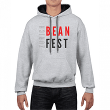 Load image into Gallery viewer, Gildan Sweater with Zurich Bean Festival graphic in light grey/black