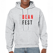 Load image into Gallery viewer,  Gildan Sweater with Zurich Bean Festival graphic in light grey
