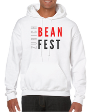 Load image into Gallery viewer, Gildan Sweater with Zurich Bean Festival graphic in white