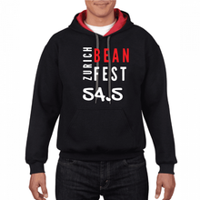 Load image into Gallery viewer, Gildan Sweater with Zurich Bean Festival graphic in Black/Red