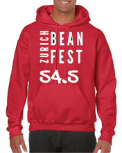 Load image into Gallery viewer, Gildan Sweater with Zurich Bean Festival graphic in cherry red