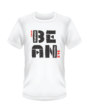 Load image into Gallery viewer, Youth Bean Festival white t-shirts, black and red logo