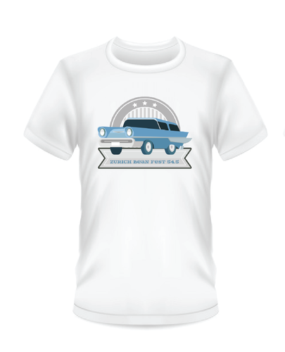 Classic Blue Car Bean Fest T-Shirts (White)