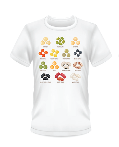 Fun Bean T-Shirt (White),Bean Varieties
