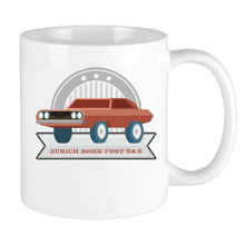 Load image into Gallery viewer, Bean Festival Mug, rusty red car logo