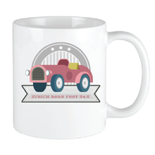 Load image into Gallery viewer, Bean Festival Mug, red car logo