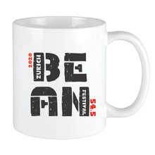 Load image into Gallery viewer, Bean Festival Mug, black and red logo
