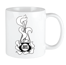 Load image into Gallery viewer, Bean Festival Mug, black and white logo