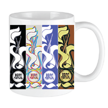 Load image into Gallery viewer, Bean Festival Mug, multi-coloured logo