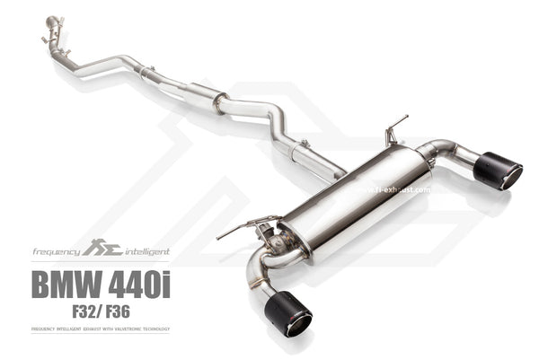 FI Exhaust BMW F32 440i B58 Front Pipe + Mid Pipe + Valvetronic Muffler + Tips