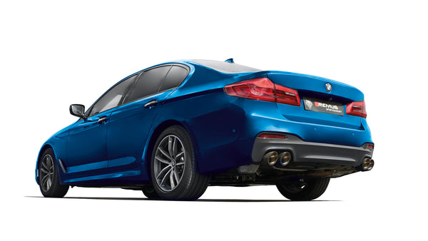 REMUS Sport Exhaust Axle-back-system with 2 integrated valves (optional tail pipes) for BMW 5 Series G30 Sedan