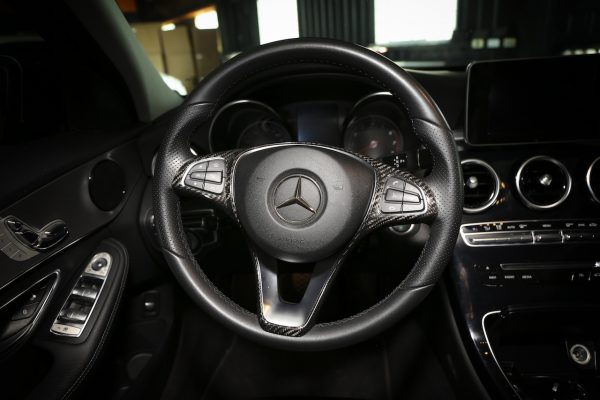 ARMASpeed Mercedes-Benz W205 Dry Carbon Steering Wheel Cover
