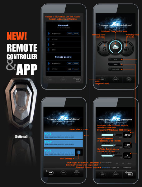 FI Exhaust - App Remote - R2017OBD