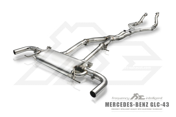 FI Exhaust Mercedes-Benz GLC43 AMG Front Pipe + Mid X Pipe + Valvetronic Mufflers + OBD2 Remote