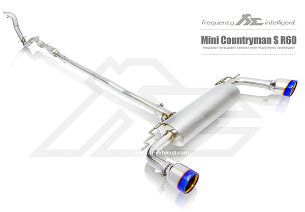 FI Exhaust Mini Countryman Cooper S (R60 R61) Front Pipe + Mid Pipe + Valvetronic Mufflers + Dual Tips
